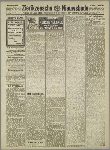 Zierikzeesche Nieuwsbode 1922-06-30
