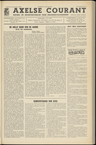 Axelsche Courant 1965