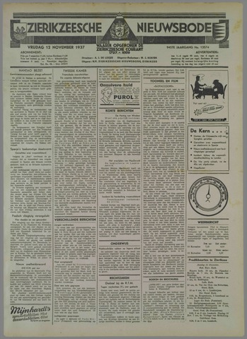 Zierikzeesche Nieuwsbode 1937-11-12