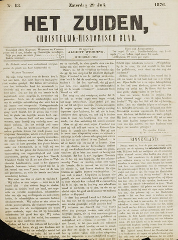 Het Zuiden, Christelijk-historisch blad 1876-07-29