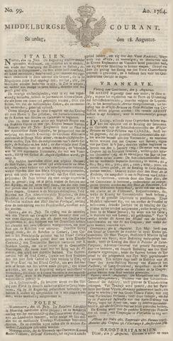 Middelburgsche Courant 1764-08-18
