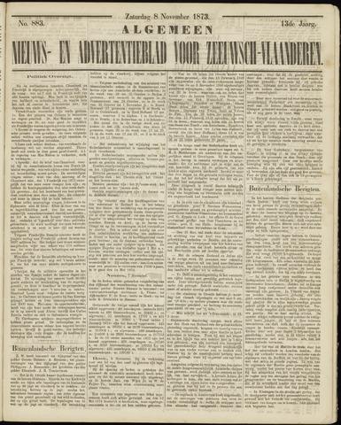Ter Neuzensche Courant. Algemeen Nieuws- en Advertentieblad voor Zeeuwsch-Vlaanderen / Neuzensche Courant ... (idem) / (Algemeen) nieuws en advertentieblad voor Zeeuwsch-Vlaanderen 1873-11-08