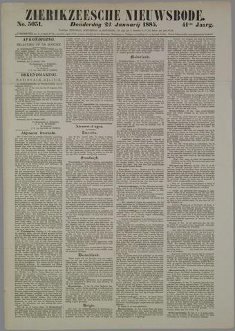 Zierikzeesche Nieuwsbode 1885-01-22