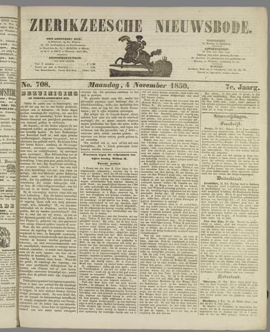 Zierikzeesche Nieuwsbode 1850-11-04