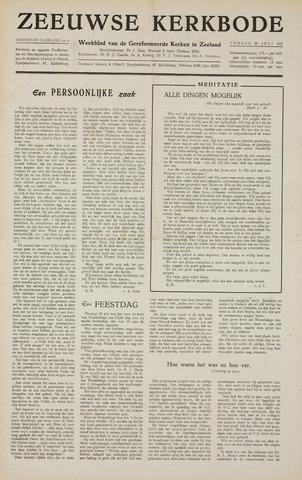 Zeeuwsche kerkbode, weekblad gewijd aan de belangen der gereformeerde kerken/ Zeeuwsch kerkblad 1957-07-26
