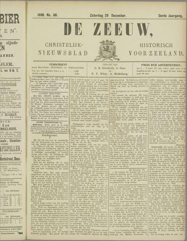 De Zeeuw. Christelijk-historisch nieuwsblad voor Zeeland 1888-12-29