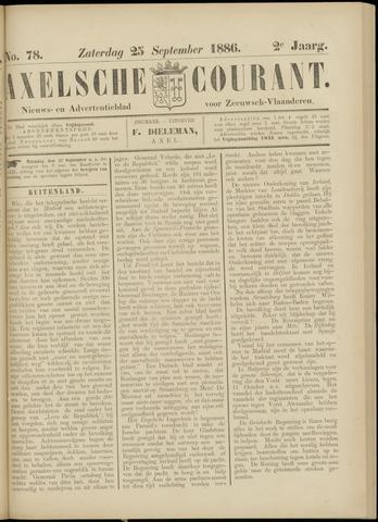 Axelsche Courant 1886-09-25
