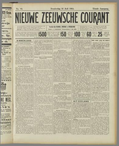 Nieuwe Zeeuwsche Courant 1914-07-16