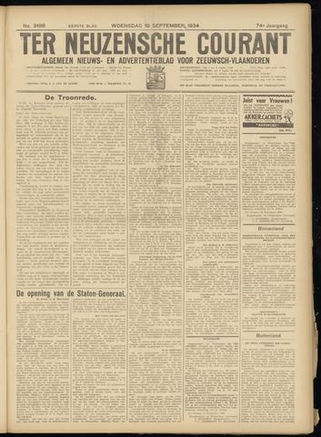 Ter Neuzensche Courant. Algemeen Nieuws- en Advertentieblad voor Zeeuwsch-Vlaanderen / Neuzensche Courant ... (idem) / (Algemeen) nieuws en advertentieblad voor Zeeuwsch-Vlaanderen 1934-09-19