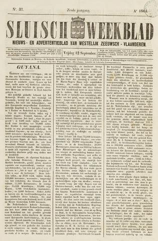 Sluisch Weekblad. Nieuws- en advertentieblad voor Westelijk Zeeuwsch-Vlaanderen 1865-09-15