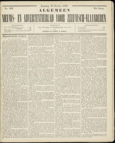 Ter Neuzensche Courant. Algemeen Nieuws- en Advertentieblad voor Zeeuwsch-Vlaanderen / Neuzensche Courant ... (idem) / (Algemeen) nieuws en advertentieblad voor Zeeuwsch-Vlaanderen 1869-10-16