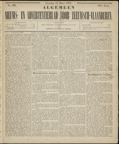 Ter Neuzensche Courant. Algemeen Nieuws- en Advertentieblad voor Zeeuwsch-Vlaanderen / Neuzensche Courant ... (idem) / (Algemeen) nieuws en advertentieblad voor Zeeuwsch-Vlaanderen 1870-03-12