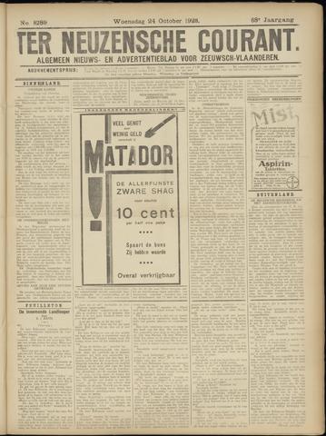 Ter Neuzensche Courant. Algemeen Nieuws- en Advertentieblad voor Zeeuwsch-Vlaanderen / Neuzensche Courant ... (idem) / (Algemeen) nieuws en advertentieblad voor Zeeuwsch-Vlaanderen 1928-10-24