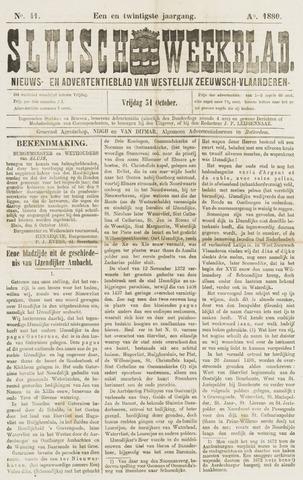 Sluisch Weekblad. Nieuws- en advertentieblad voor Westelijk Zeeuwsch-Vlaanderen 1880-10-31