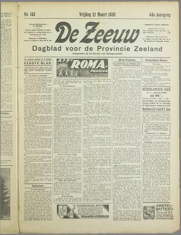 De Zeeuw. Christelijk-historisch nieuwsblad voor Zeeland 1930-03-21