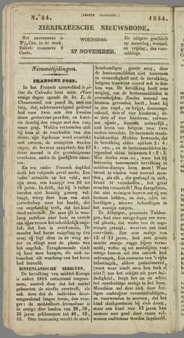 Zierikzeesche Nieuwsbode 1844-11-27