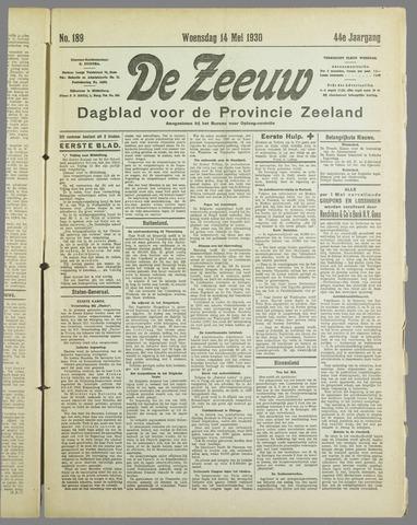 De Zeeuw. Christelijk-historisch nieuwsblad voor Zeeland 1930-05-14