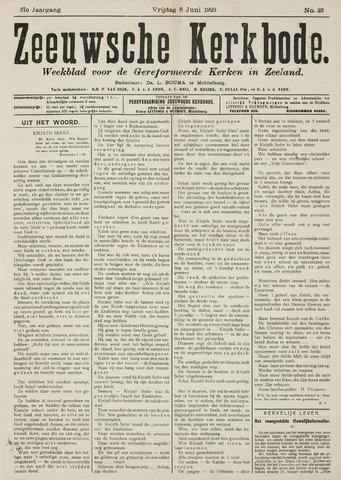 Zeeuwsche kerkbode, weekblad gewijd aan de belangen der gereformeerde kerken/ Zeeuwsch kerkblad 1923-06-08