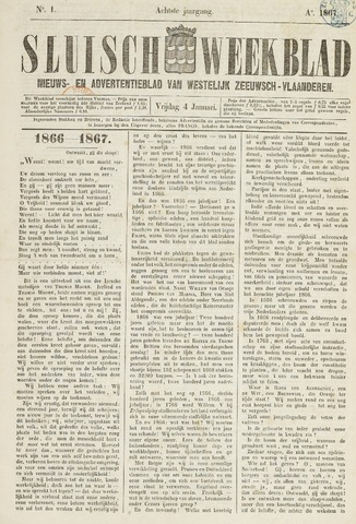 Sluisch Weekblad. Nieuws- en advertentieblad voor Westelijk Zeeuwsch-Vlaanderen 1867