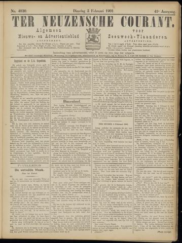 Ter Neuzensche Courant. Algemeen Nieuws- en Advertentieblad voor Zeeuwsch-Vlaanderen / Neuzensche Courant ... (idem) / (Algemeen) nieuws en advertentieblad voor Zeeuwsch-Vlaanderen 1901-02-05