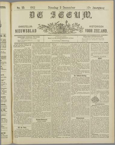 De Zeeuw. Christelijk-historisch nieuwsblad voor Zeeland 1912-12-03