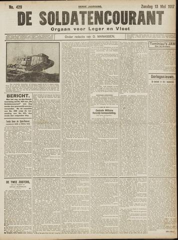 De Soldatencourant. Orgaan voor Leger en Vloot 1917-05-13