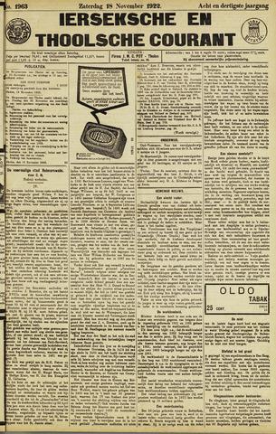Ierseksche en Thoolsche Courant 1922-11-18
