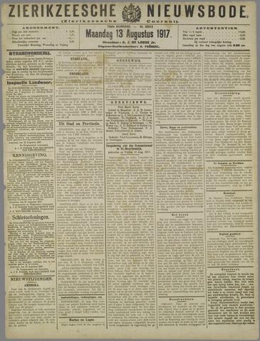 Zierikzeesche Nieuwsbode 1917-08-13