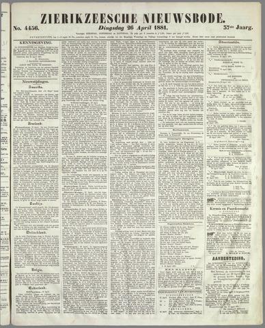 Zierikzeesche Nieuwsbode 1881-04-26