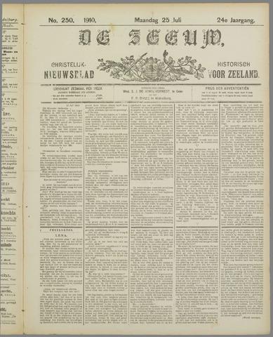De Zeeuw. Christelijk-historisch nieuwsblad voor Zeeland 1910-07-25