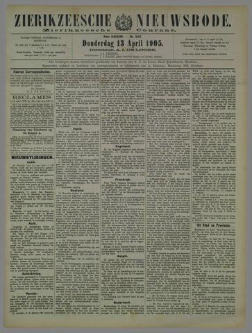 Zierikzeesche Nieuwsbode 1905-04-13