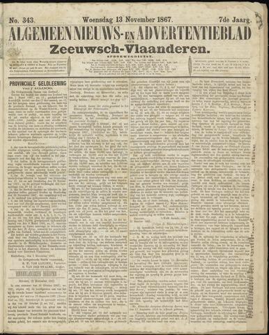 Ter Neuzensche Courant. Algemeen Nieuws- en Advertentieblad voor Zeeuwsch-Vlaanderen / Neuzensche Courant ... (idem) / (Algemeen) nieuws en advertentieblad voor Zeeuwsch-Vlaanderen 1867-11-13