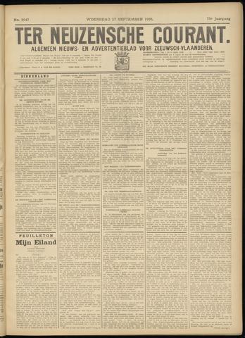 Ter Neuzensche Courant. Algemeen Nieuws- en Advertentieblad voor Zeeuwsch-Vlaanderen / Neuzensche Courant ... (idem) / (Algemeen) nieuws en advertentieblad voor Zeeuwsch-Vlaanderen 1933-09-27
