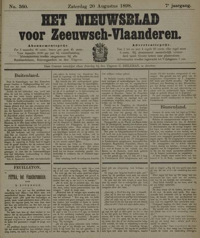 Nieuwsblad voor Zeeuwsch-Vlaanderen 1898-08-20