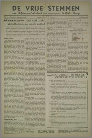 Vrije Stemmen van Schouwen-Duiveland, tevens mededeelingenblad Militair Gezag 1945-09-29