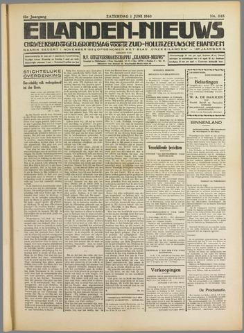 Eilanden-nieuws. Christelijk streekblad op gereformeerde grondslag 1940-06-01
