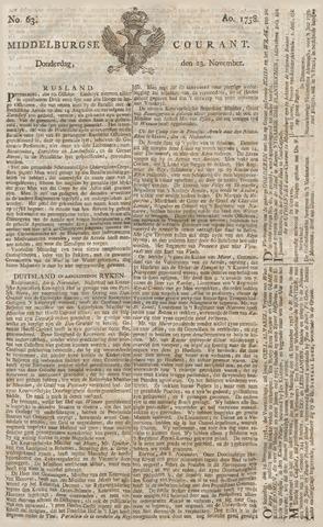 Middelburgsche Courant 1758-11-23