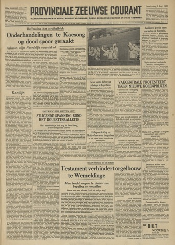 Provinciale Zeeuwse Courant 1951-08-02