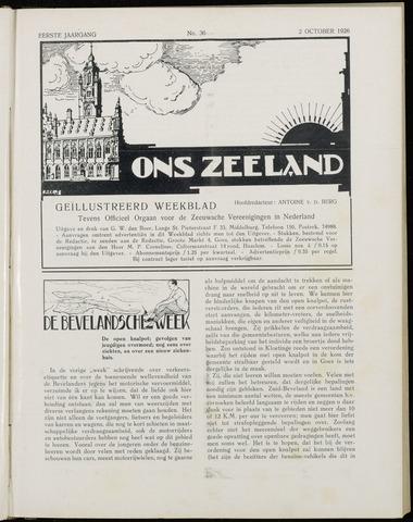 Ons Zeeland / Zeeuwsche editie 1926-10-02