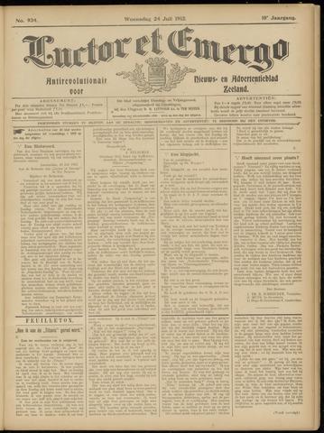 Luctor et Emergo. Antirevolutionair nieuws- en advertentieblad voor Zeeland / Zeeuwsch-Vlaanderen. Orgaan ter verspreiding van de christelijke beginselen in Zeeuwsch-Vlaanderen 1912-07-24
