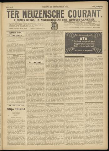 Ter Neuzensche Courant. Algemeen Nieuws- en Advertentieblad voor Zeeuwsch-Vlaanderen / Neuzensche Courant ... (idem) / (Algemeen) nieuws en advertentieblad voor Zeeuwsch-Vlaanderen 1933-09-29