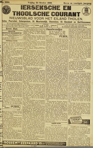 Ierseksche en Thoolsche Courant 1929-10-25