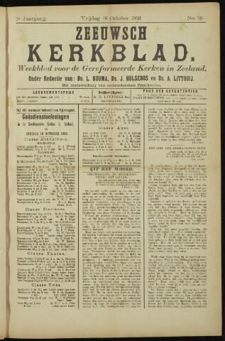 Zeeuwsche kerkbode, weekblad gewijd aan de belangen der gereformeerde kerken/ Zeeuwsch kerkblad 1903-10-16
