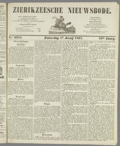 Zierikzeesche Nieuwsbode 1863-06-27