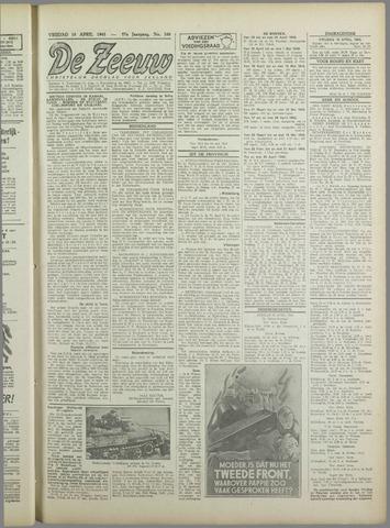 De Zeeuw. Christelijk-historisch nieuwsblad voor Zeeland 1943-04-16