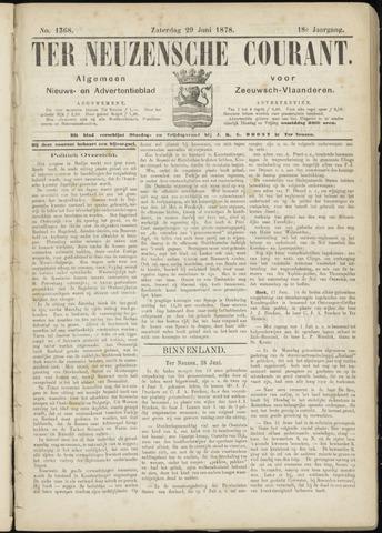 Ter Neuzensche Courant. Algemeen Nieuws- en Advertentieblad voor Zeeuwsch-Vlaanderen / Neuzensche Courant ... (idem) / (Algemeen) nieuws en advertentieblad voor Zeeuwsch-Vlaanderen 1878-06-29