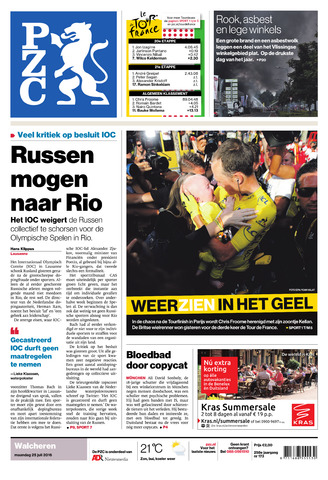 Provinciale Zeeuwse Courant 2016-07-25