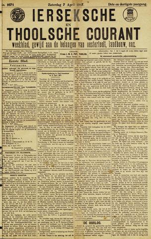 Ierseksche en Thoolsche Courant 1917-04-07