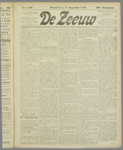 De Zeeuw. Christelijk-historisch nieuwsblad voor Zeeland 1916-08-03