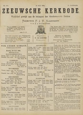 Zeeuwsche kerkbode, weekblad gewijd aan de belangen der gereformeerde kerken/ Zeeuwsch kerkblad 1891-07-18